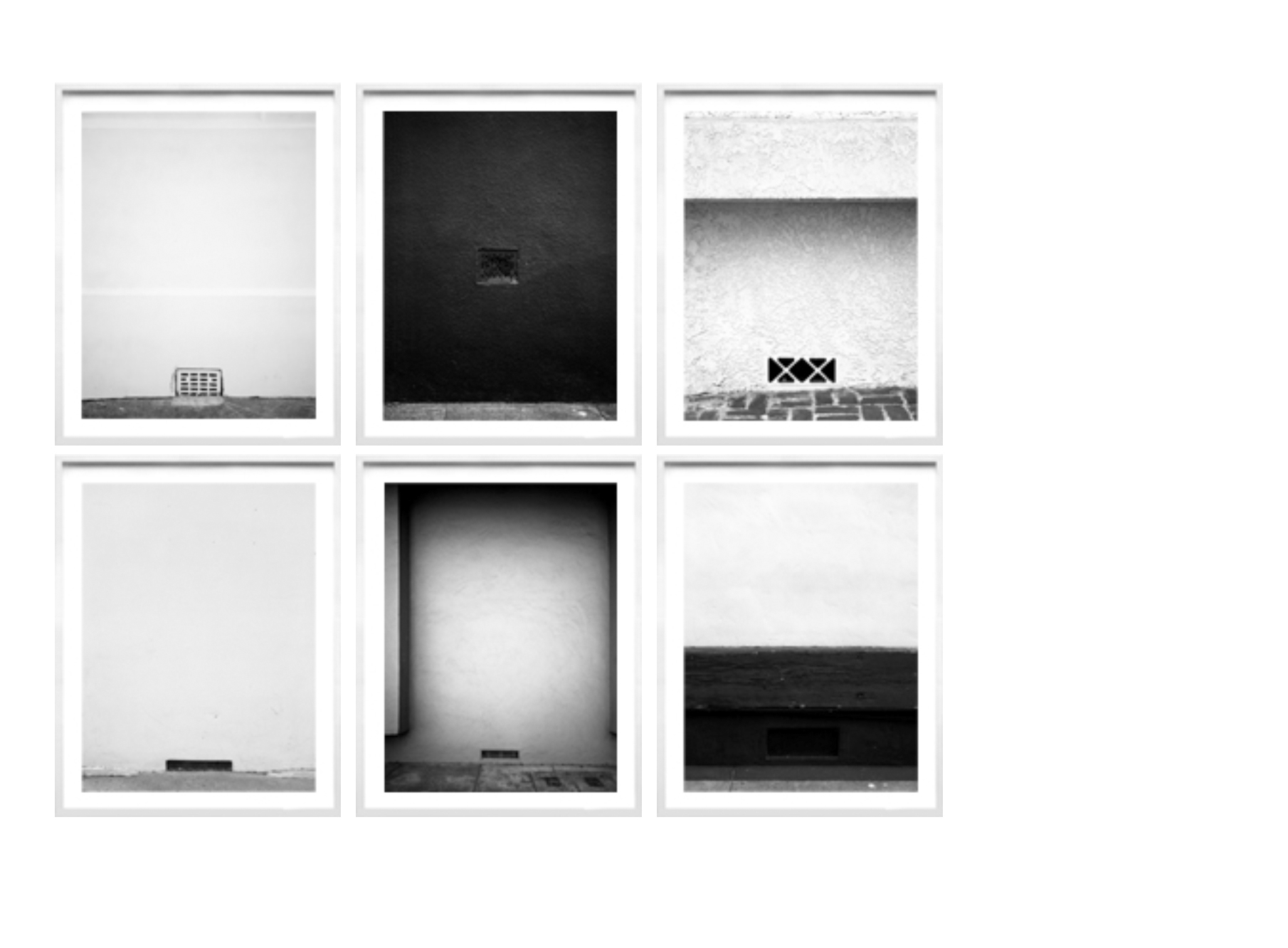 Series of 6, framed, one size, 2005-2008