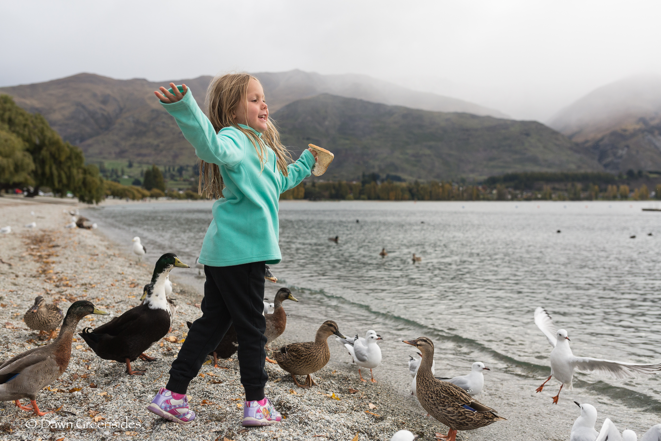 I hope this kid continues to smile and feed the ducks and seagulls  everywhere  she goes! This picture is a true example of Piper's personality! I love it!!!