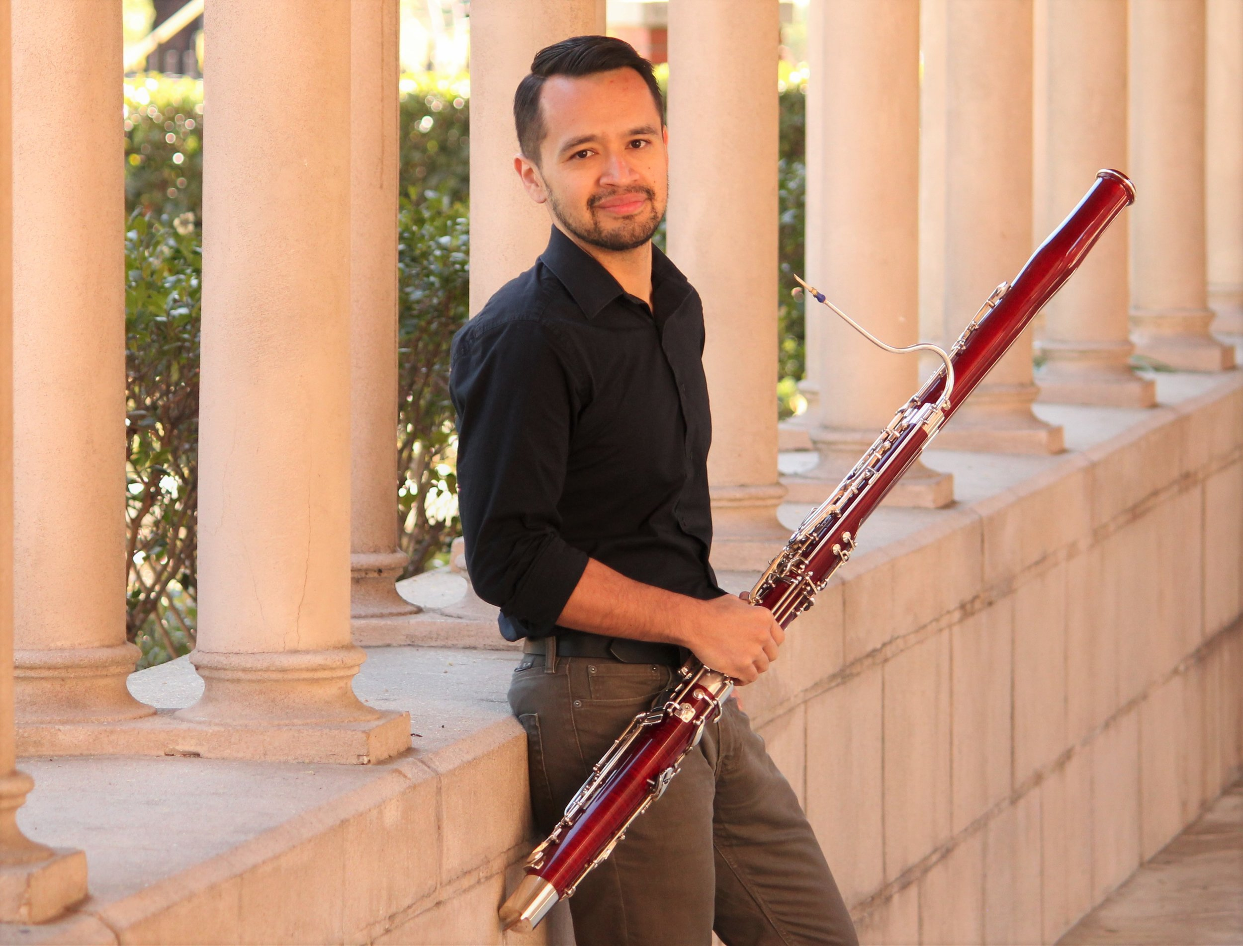 Alex Rosales Garc ía   A lex Rosales Garcia, Mexican-born and San Francisco raised, is a dynamic bassoonist living in Los Angeles, California. An active musician in Southern California and Nevada, Alex has performed with various groups including the Los Angeles Philharmonic, Las Vegas Philharmonic , Hollywood Chamber Orchestra, New West Symphony, Brevard Music Center Orchestra, Golden State Pops Orchestra, the Southeast Symphony Orchestra, and as Principal Bassoon with the Debut Orchestra from 2013 to 2016. He has played under many notable conductors including JoAnn Falletta, Mirga Gražinytė-Tyla, Bramwell Tovey, Carl St. Clair, Keith Lockhart, Christoph König and Matthias Bamert.  Along with the other members of his sextet, Cardinal Winds, Alex was awarded the Grand Prize at the 2015 Plowman Chamber Music Competition held in Columbia, Missouri. That same year they were also named semi-finalists in the Fischoff Chamber Competition and finalists at the Coleman Chamber Competition. The group was also honored with a Max H. Gluck fellowship and performed various community engagement concerts on a weekly basis within underserved communities in greater Los Angeles.  A passionate educator, Alex is also an acclaimed teaching artists for the Los Angeles Philharmonic's signature 'El Sistema' program – YOLA (Youth Orchestra Los Angeles) He is the principal bassoon instructor, musicianship teacher and chamber music coach at the EXPO site (South Los Angeles) and Double Reed specialist at the HOLA site (Rampart District). Furthermore, he has held the positions of Double Reed instructor with the National Take A Stand Festival--a top-tier national youth orchestra for El Sistema-inspired programs across the United States. Alex also maintains a vibrant and active bassoon studio and is proud of his many students who have won positions in local youth orchestras and obtained full-ride scholarships to various music schools.