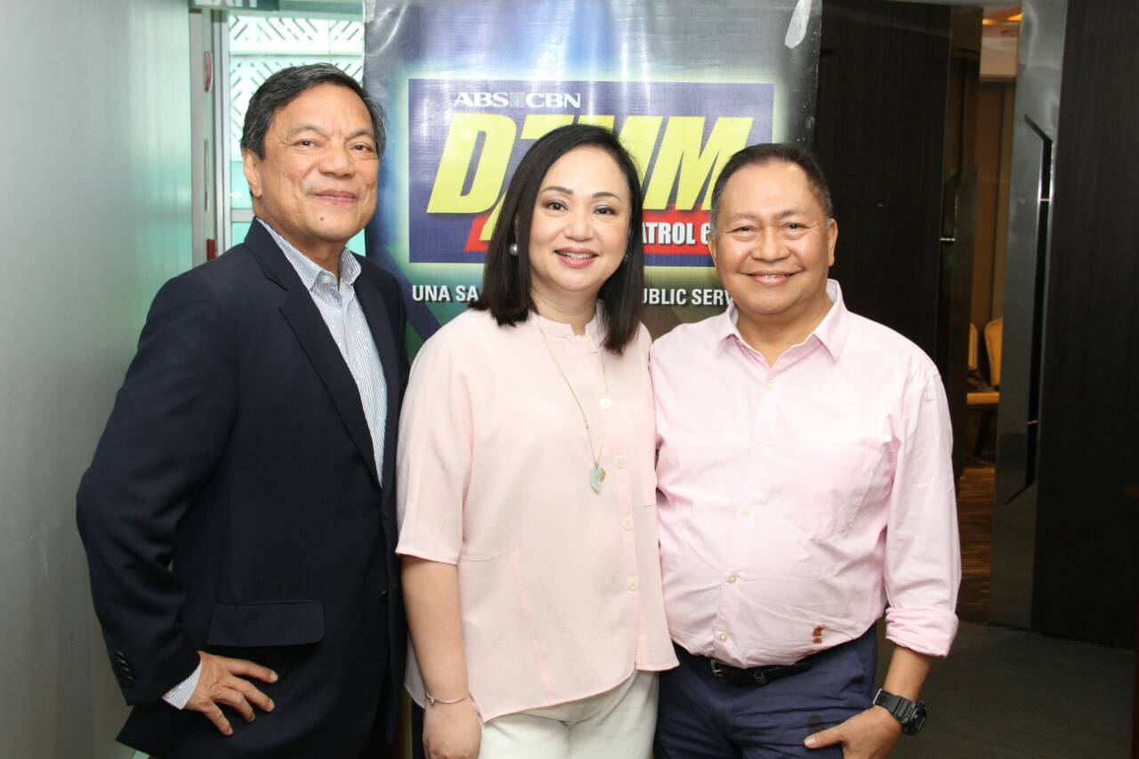 Teka Muna Hosts - Peter Musngi and Pat-Daza with Isah V. Red at Novotel at the Araneta Center during the presscon for the radio show, Saturdays, 7pm, on ABS-CBN.