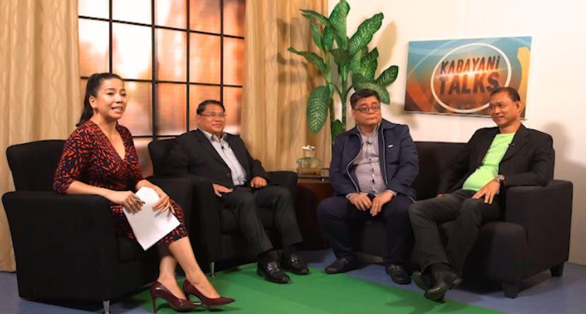 Romero with guests Fidel Escurel, Lito Soriano, and Jun Aguilar.