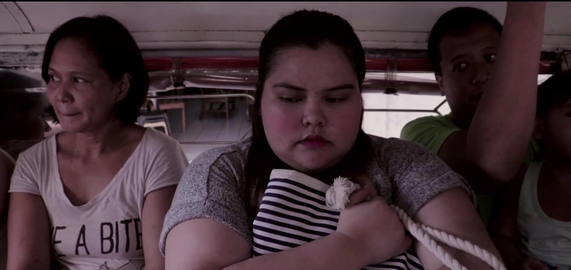 """Mary Grace Yagi in a jeepney scene in """"Fat You"""""""
