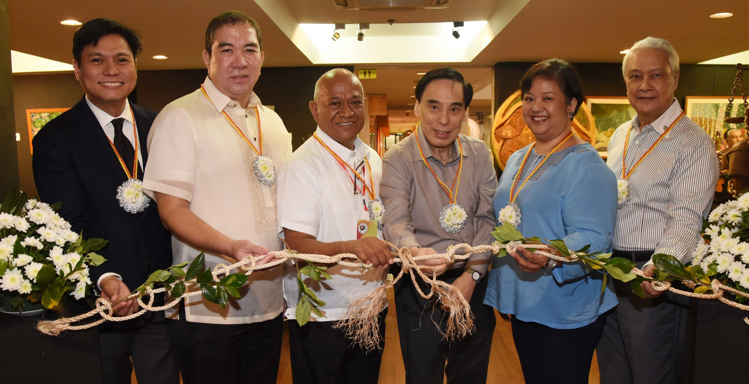 At the ribbon cutting of KKK are, from left Dr.  Malen Gellido  (from Pakil, Laguna) of St. Frances Cabrini Medical Center, Inc., Dr.  Florentino T. Afable  of St. Frances Cabrini Medical Center, Inc., Dr. Nilo Marquez Valdecantos, Mr.  Toni Lo,  president of LRI Design Plaza, Dr.  Rosalinda Pullido , oncologist of St. Frances Cabrini, MD of St. Frances Cabrini Medical Center, Inc., and J ohnny Hubilla .
