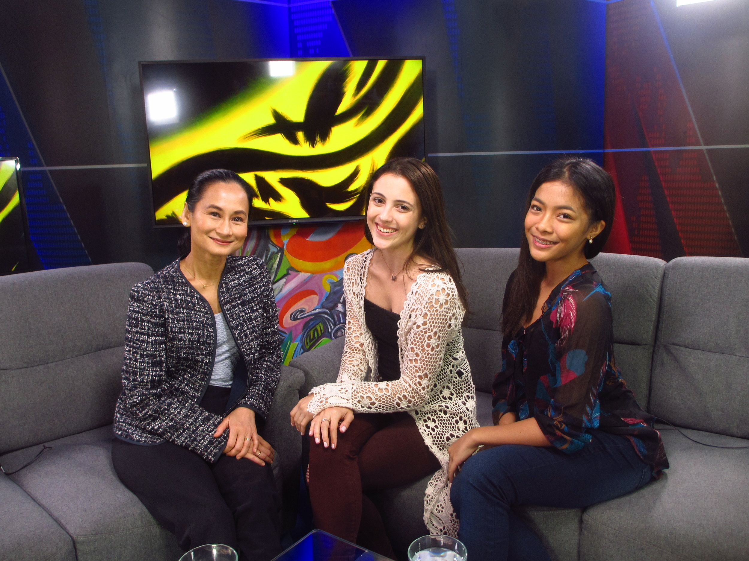 Art 2 Art host Lisa Macuja welcomes Ballet Manila guest principal artist Katherine Barkman (middle) and soloist Nicole Barroso for a conversation on their shared passion for dance.
