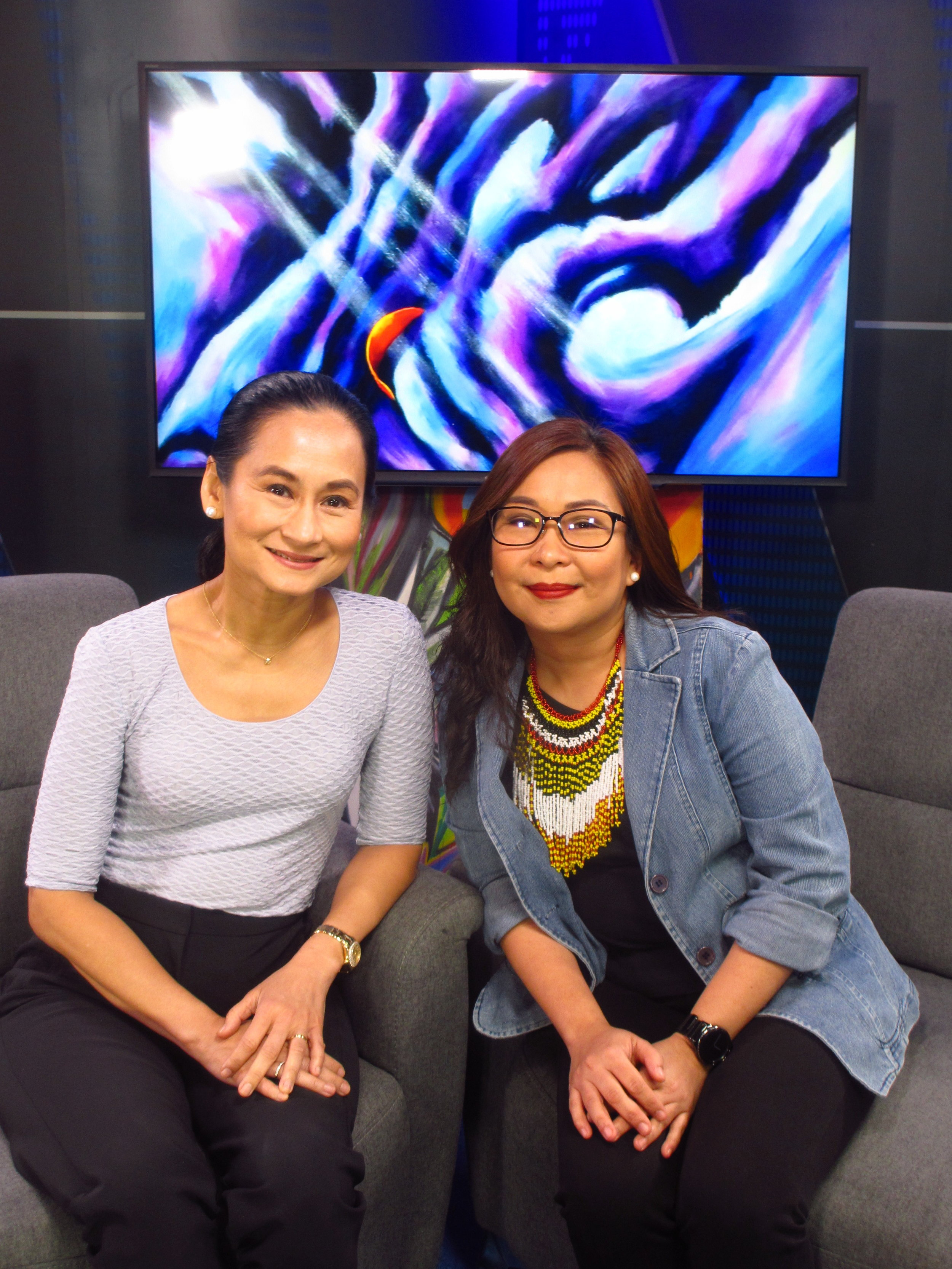 Arts educator and culture programmer Jill Soberano-Samodio (right) joins  Art 2 Art host Lisa Macuja to share the findings of her research on the Filipino creative workforce