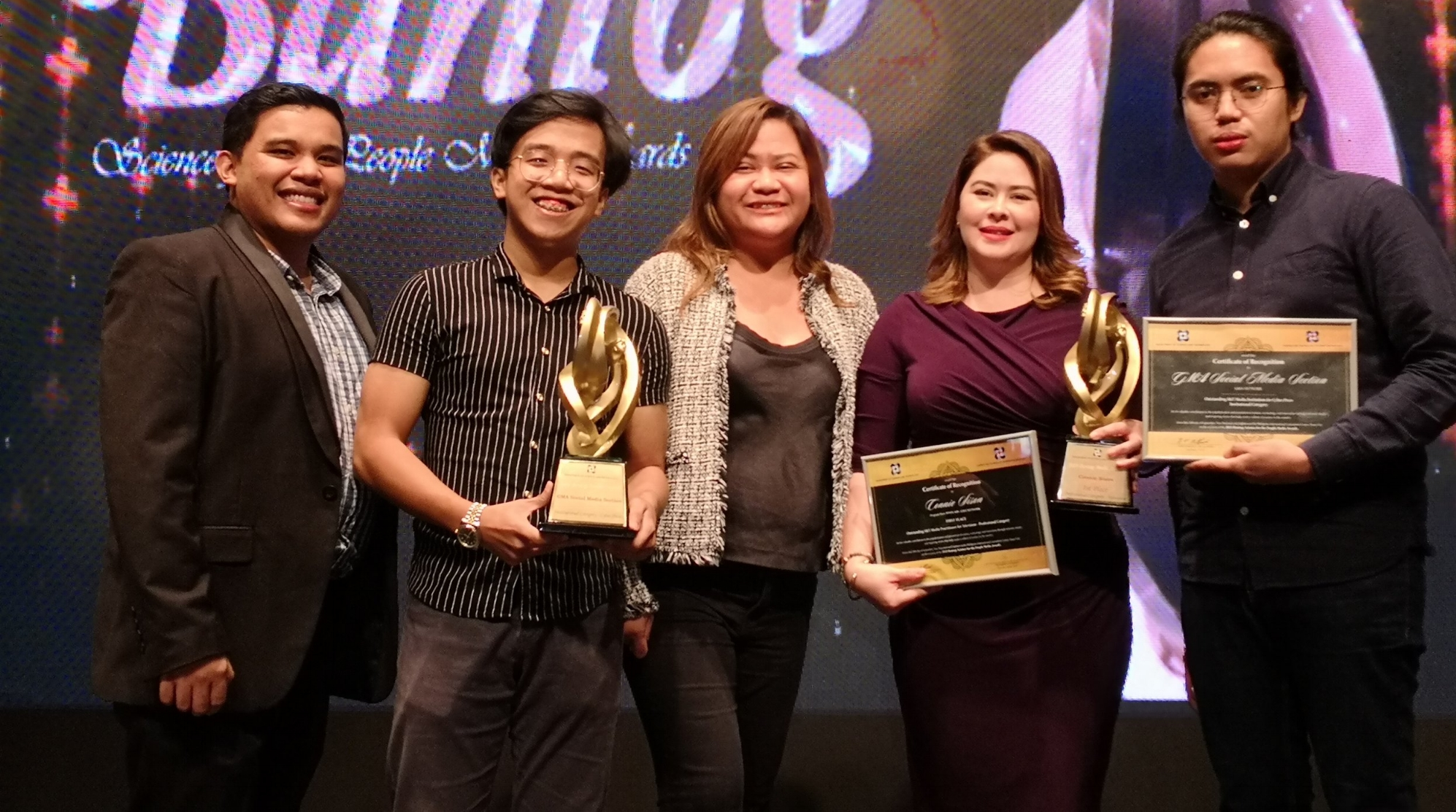 GMA News and Public Affairs personality Connie Sison and the GMA Public Affairs Social Media Section were among the first recipients of the Bantog awards given by DOST-STII..jpg