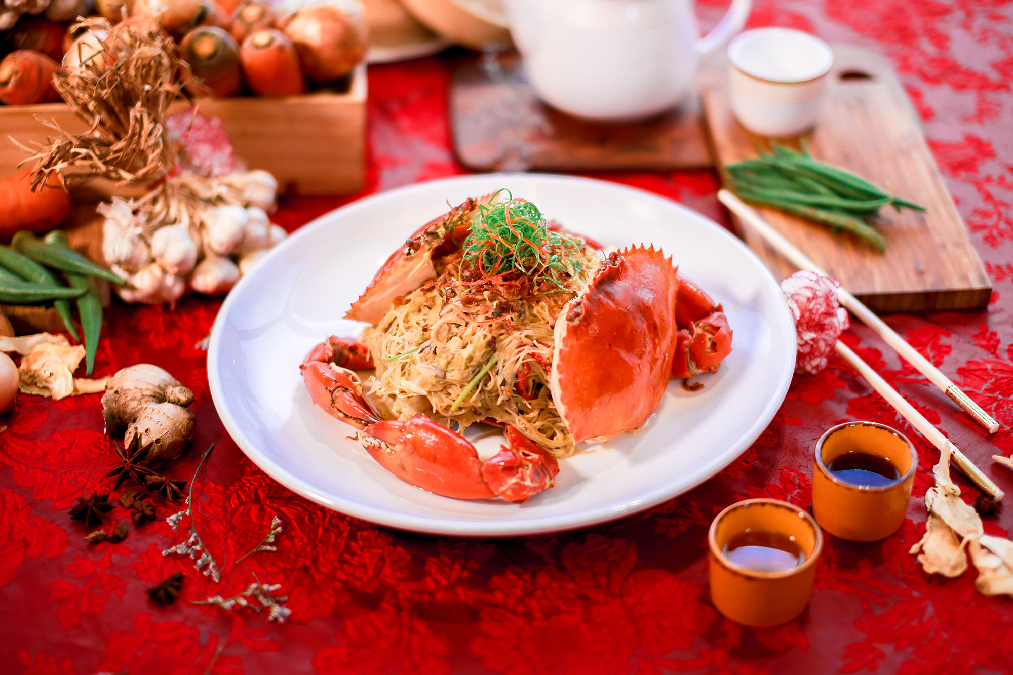 Triple Cooked Crab with Beehon
