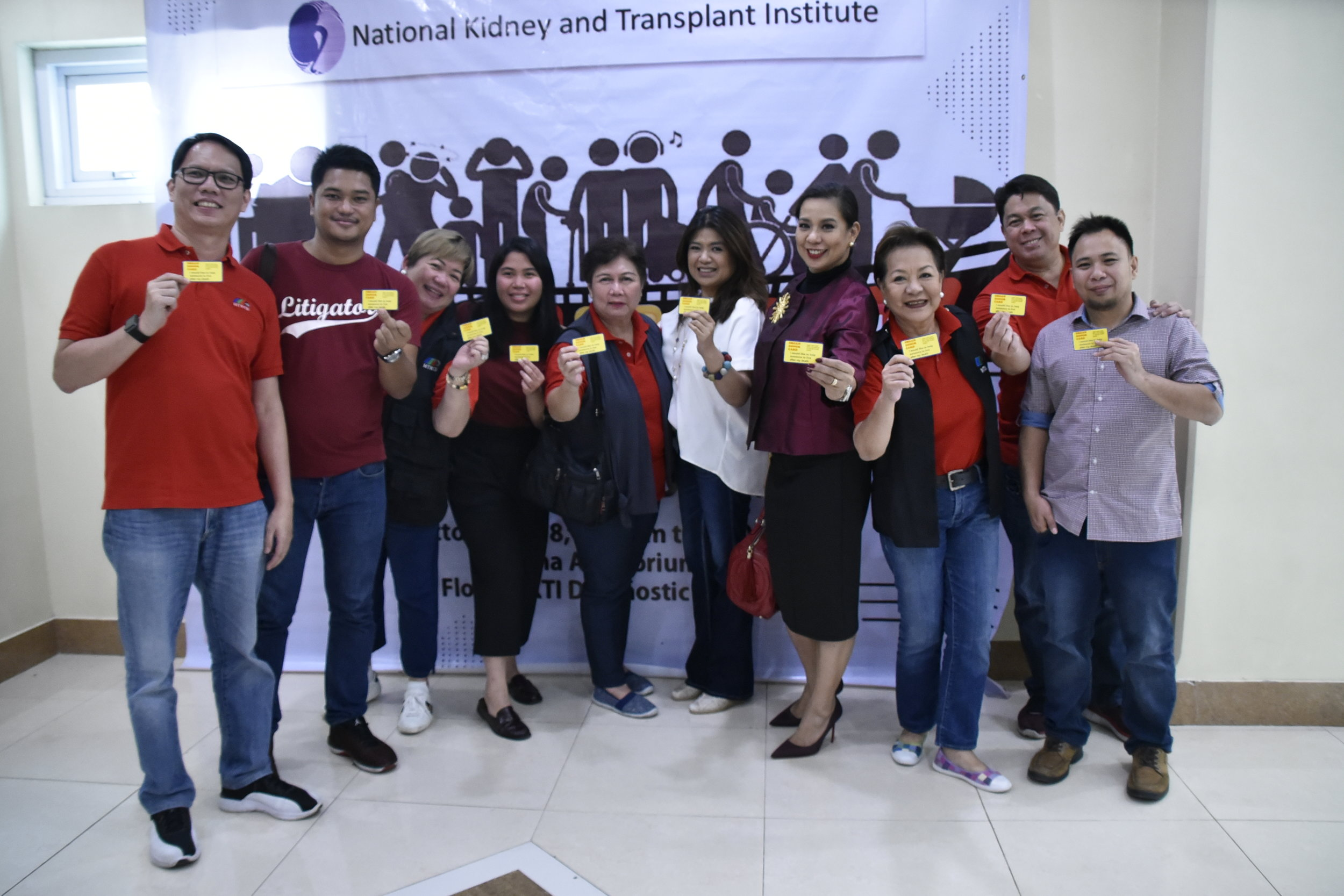 MTRCB Chairperson Rachel with the Board Members holding their Organ Donor Card.