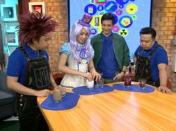 The gang performing Bulak Ball Experiment
