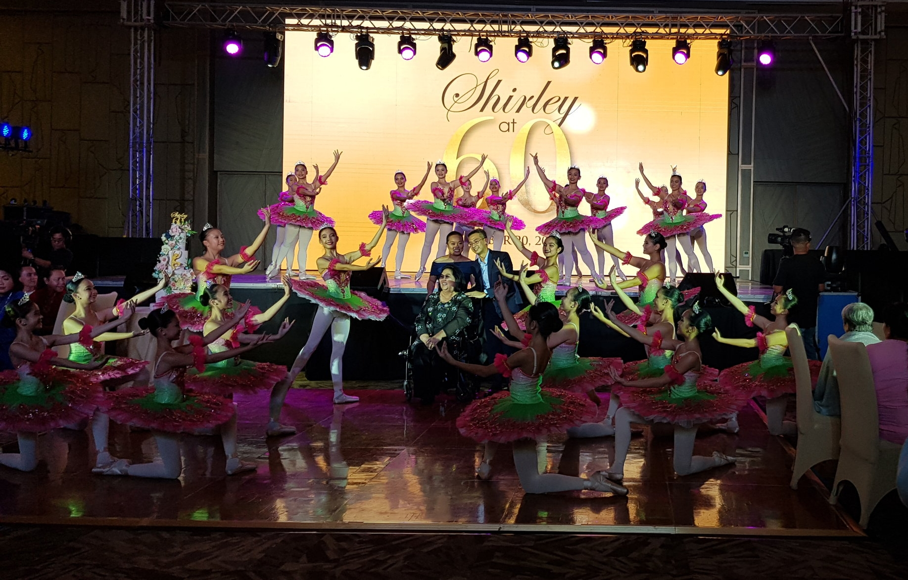 Students of Halili Ballet School give tribute to the school founder, Shirley Halili