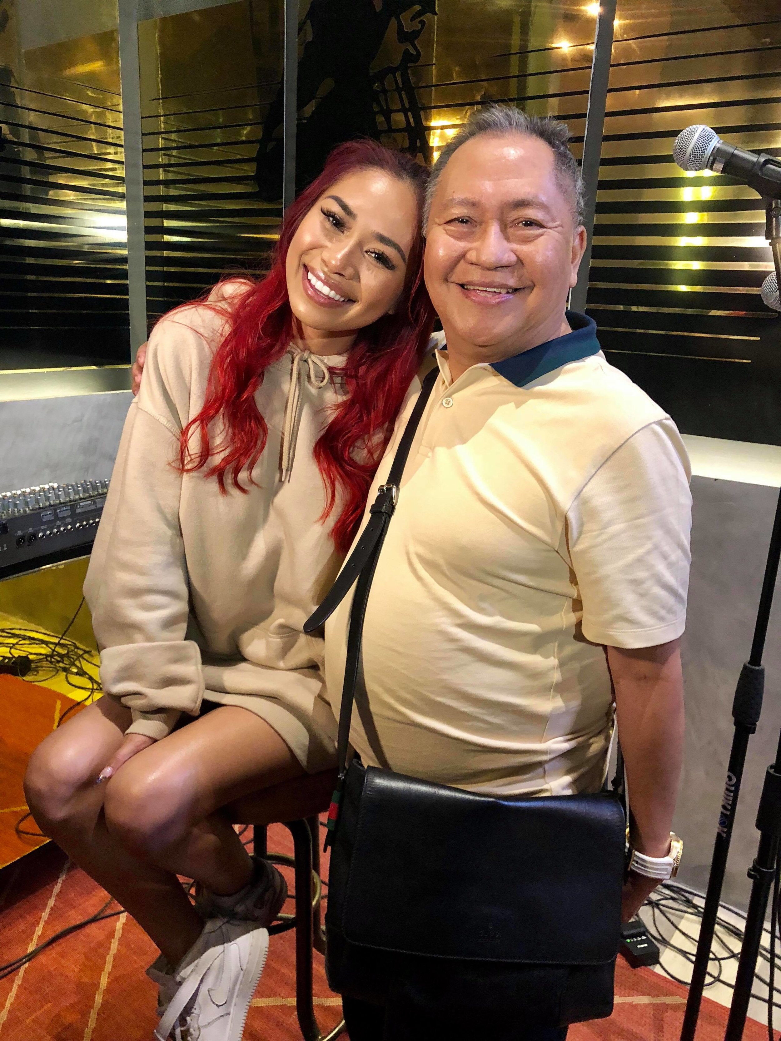 Jessica Sanchez with Isah Red at Studio 28 during her brief press meet