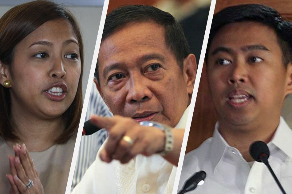 Between the competing siblings is their father, former Vice President Jejomar Binay