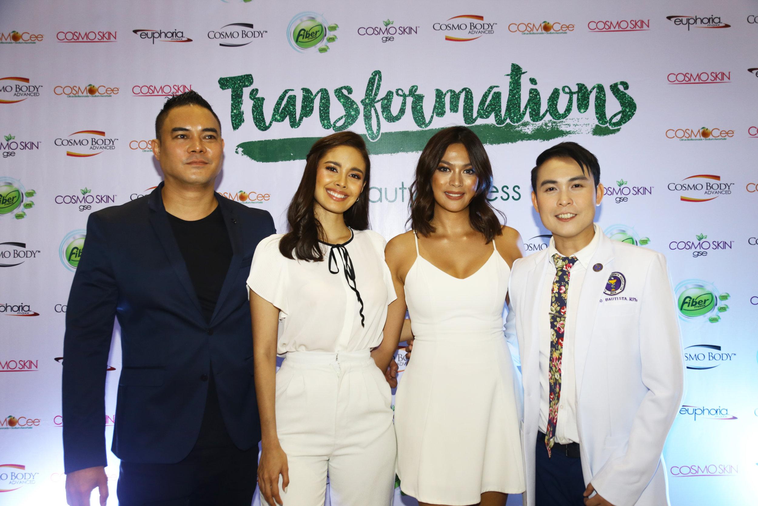 Megan Young and Ariella Arida with Red Gatus and Nino Bautista
