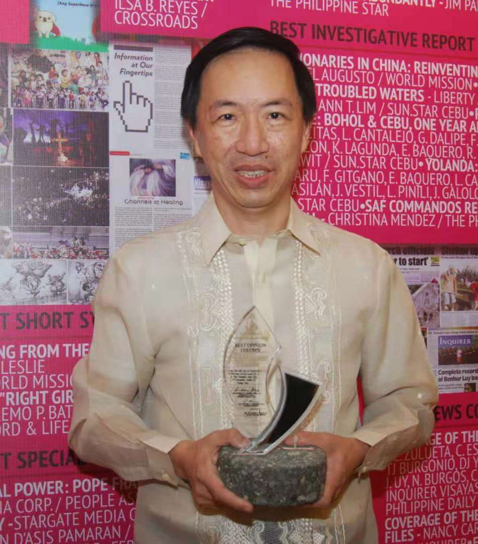 Wilson Lee Flores, entrepreneur and newspaper columnist bags CMMA's Hall of Fame award