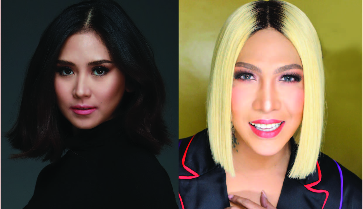 Sarah Geronimo and Vice Ganda, the main attractions during the lighting of the Araneta Center Christmas Tree