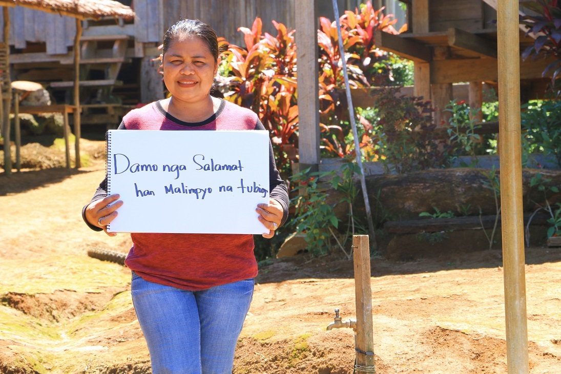 Imelda Eusebio is a health and sanitation officer from Leyte who worked to help provide clean and accessible water to her community