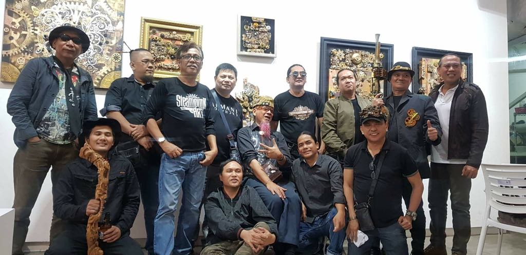 Members of Steampunk Artists Philippines at Secret Fresh Gallery in Ronac Art Center in Ortigas