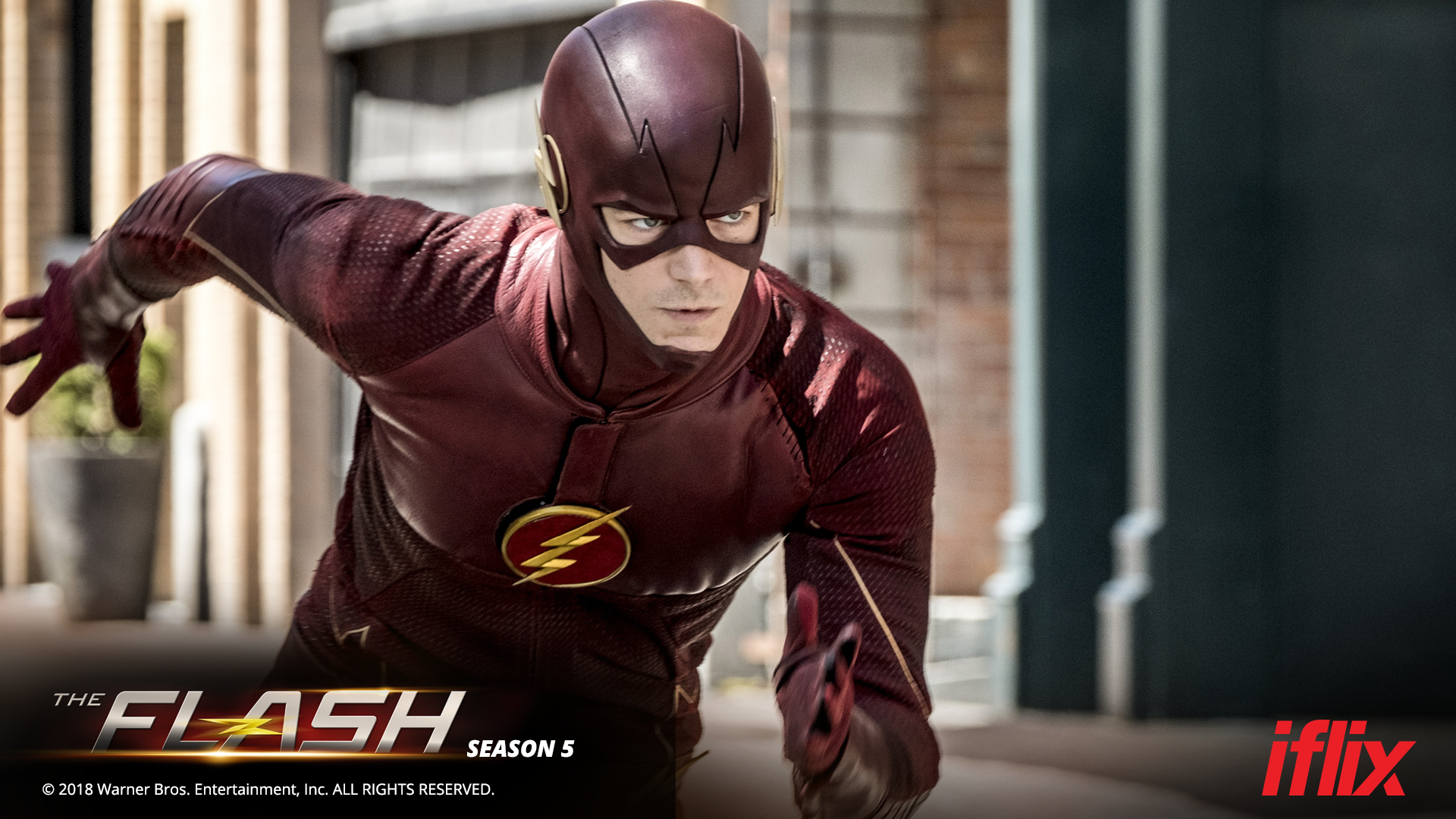 "Poster of ""The Flash"" Season 5 available for streaming on iflix"