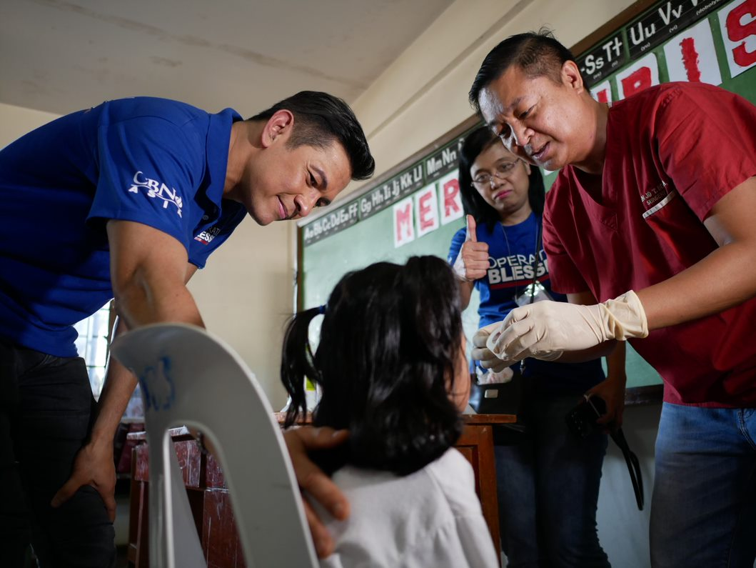 Gary V visited the residents as they were getting their check ups