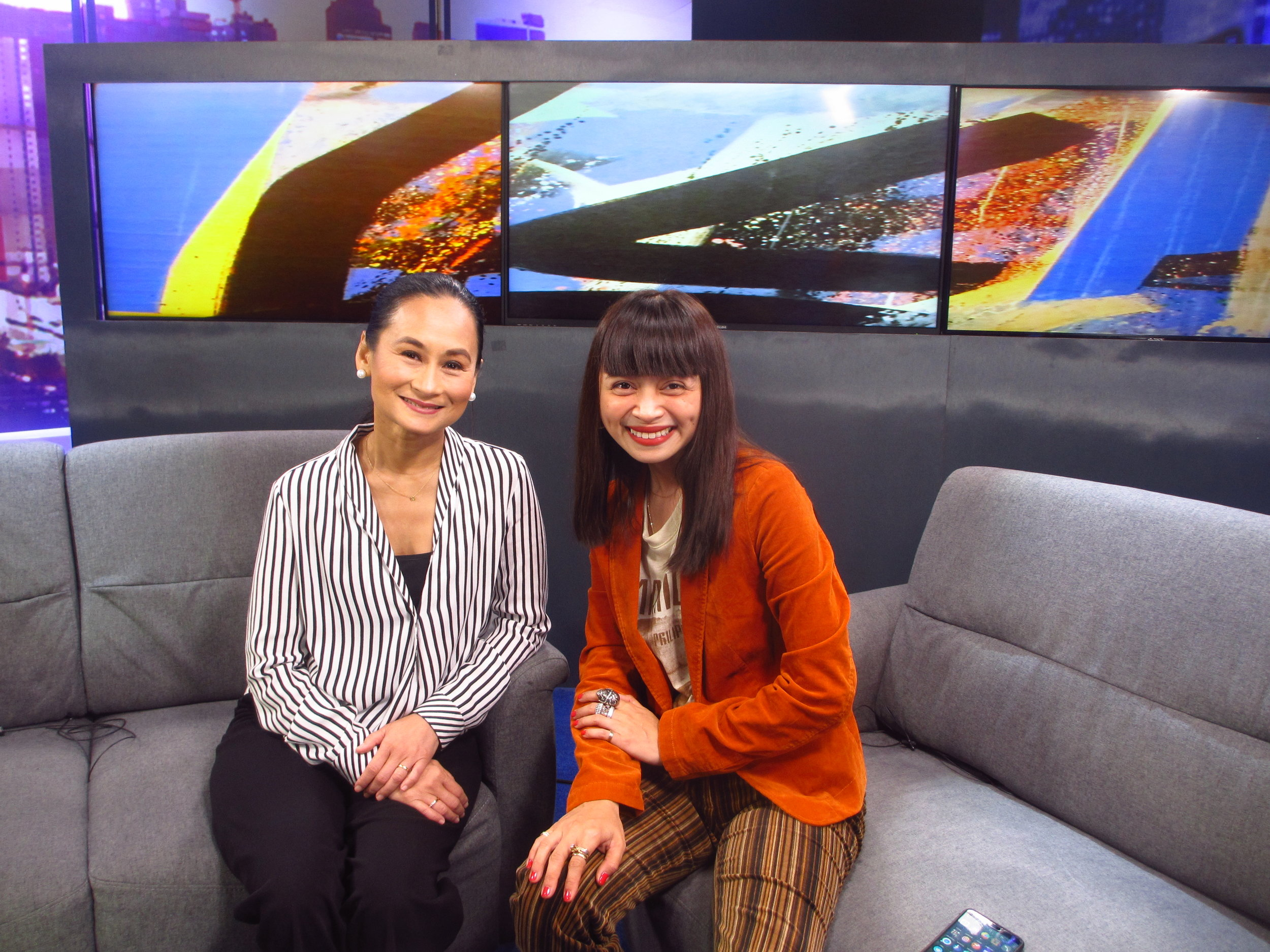 Art 2 Art  host Lisa Macuja with fashion and advertising photographer Shaira Luna