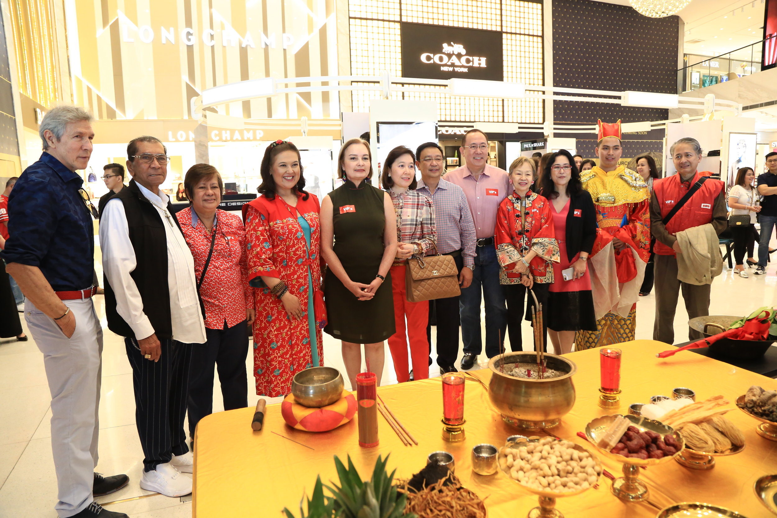 Officers of DFPC with guests before the Lunar New Year rituals at the Luxe Store at MOA