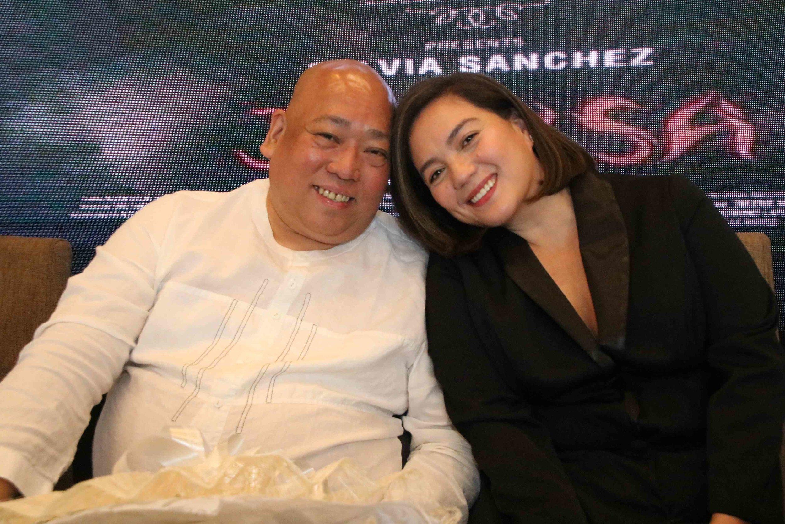 Writer/director Ronald Carballo with his Jesusa, Sylvia Sanchez