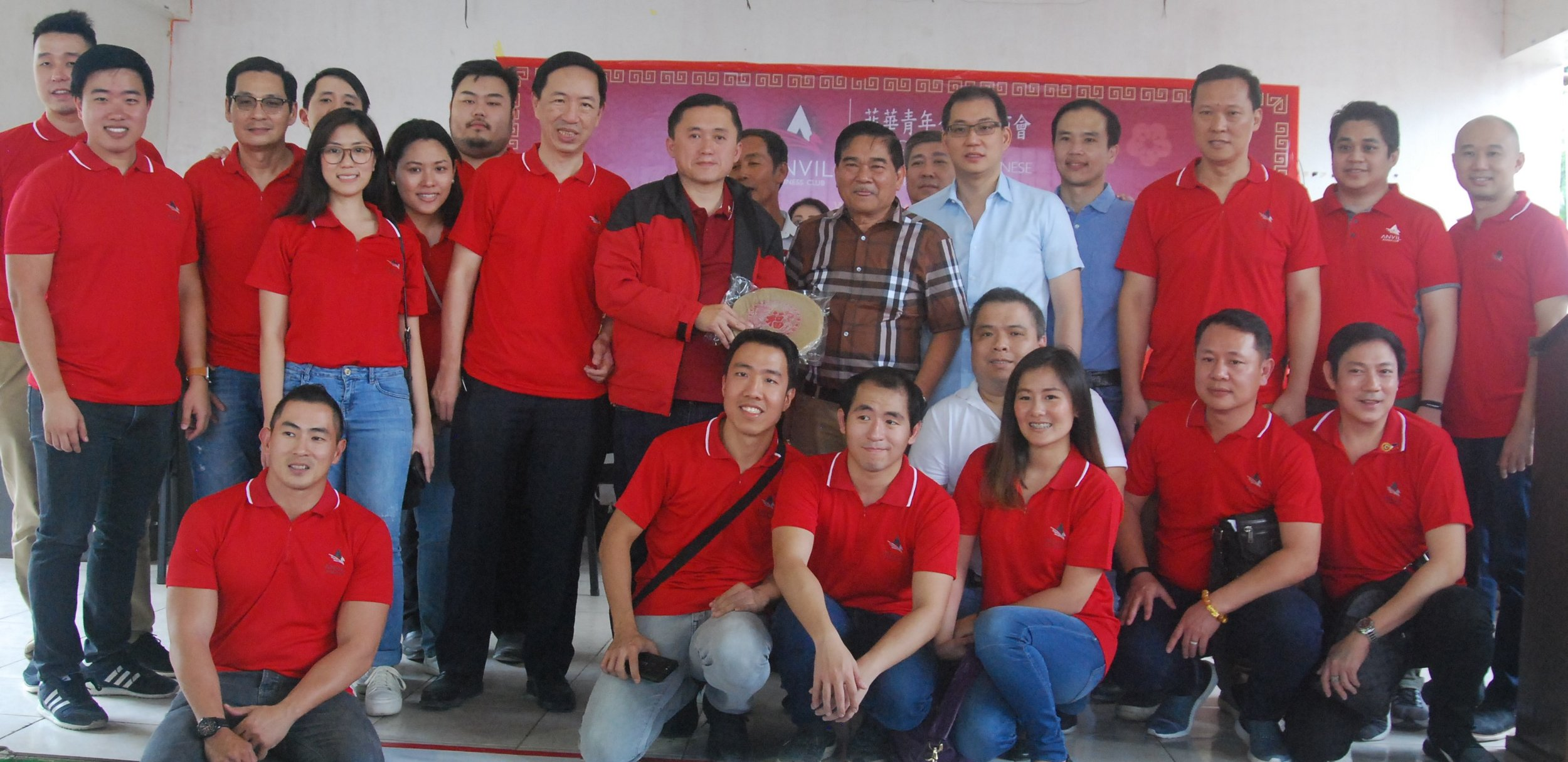 Bong Go and Mayor Malapitan with members of the Anvil Business Club