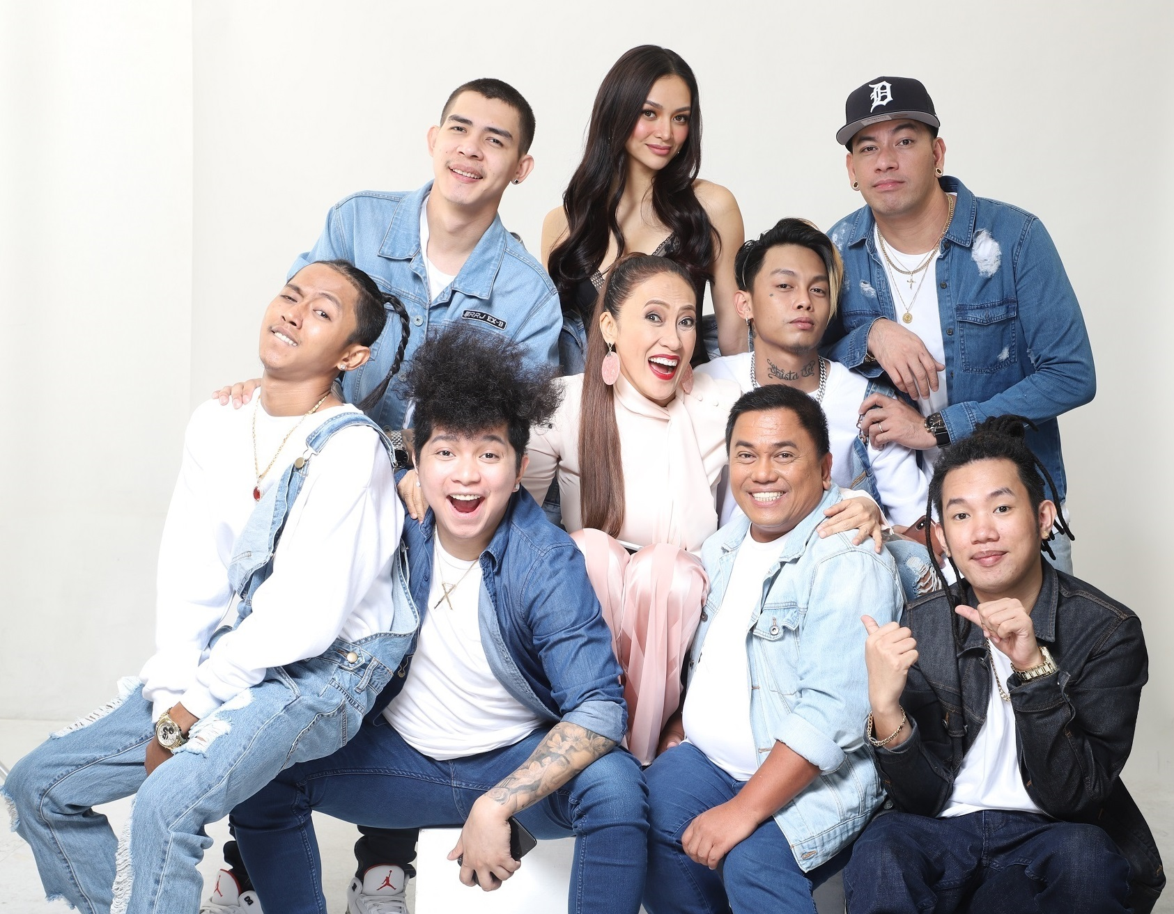 AiAi de las Alas with Sheree and members of the Ex-Battalion