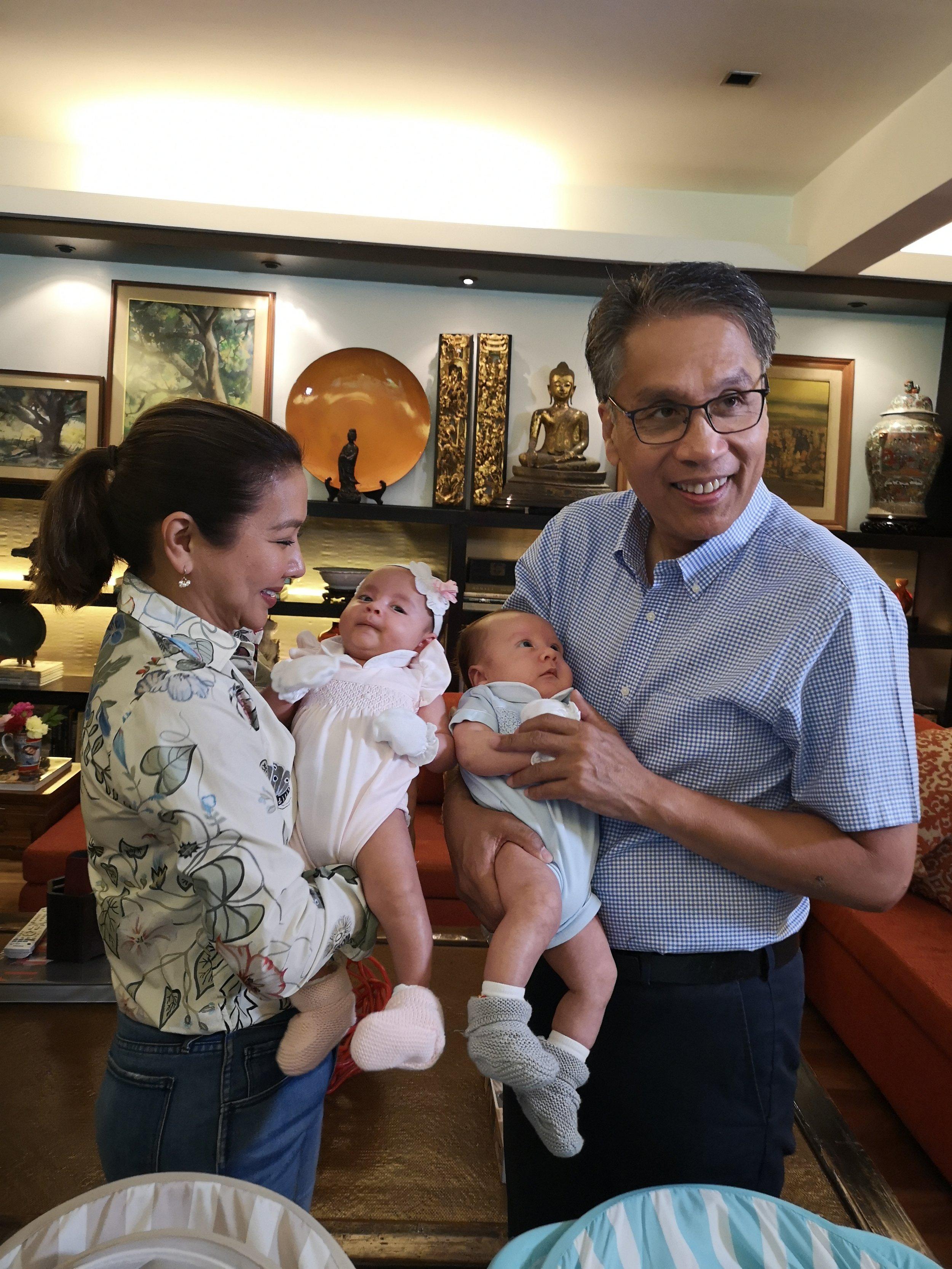 Couple Korina and Mar Roxas are proud parents of Pepe and Pilar