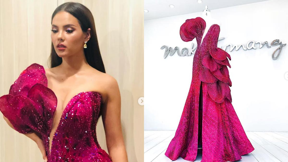 Mak Tumang creates a waling-waling-inspired gown for Miss Univers 2018 Catriona Gray