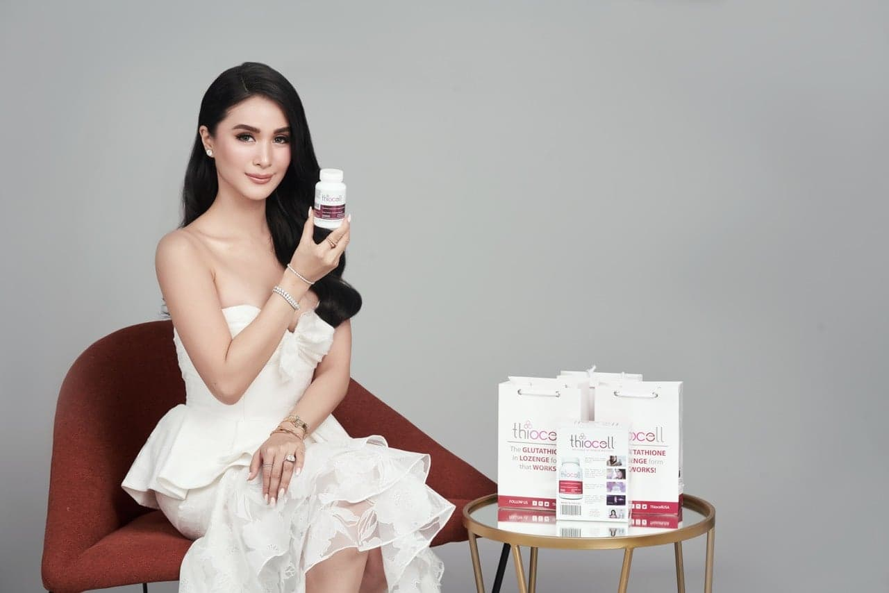 Thiocell makes her glow from the inside, claims Heart Evangelista