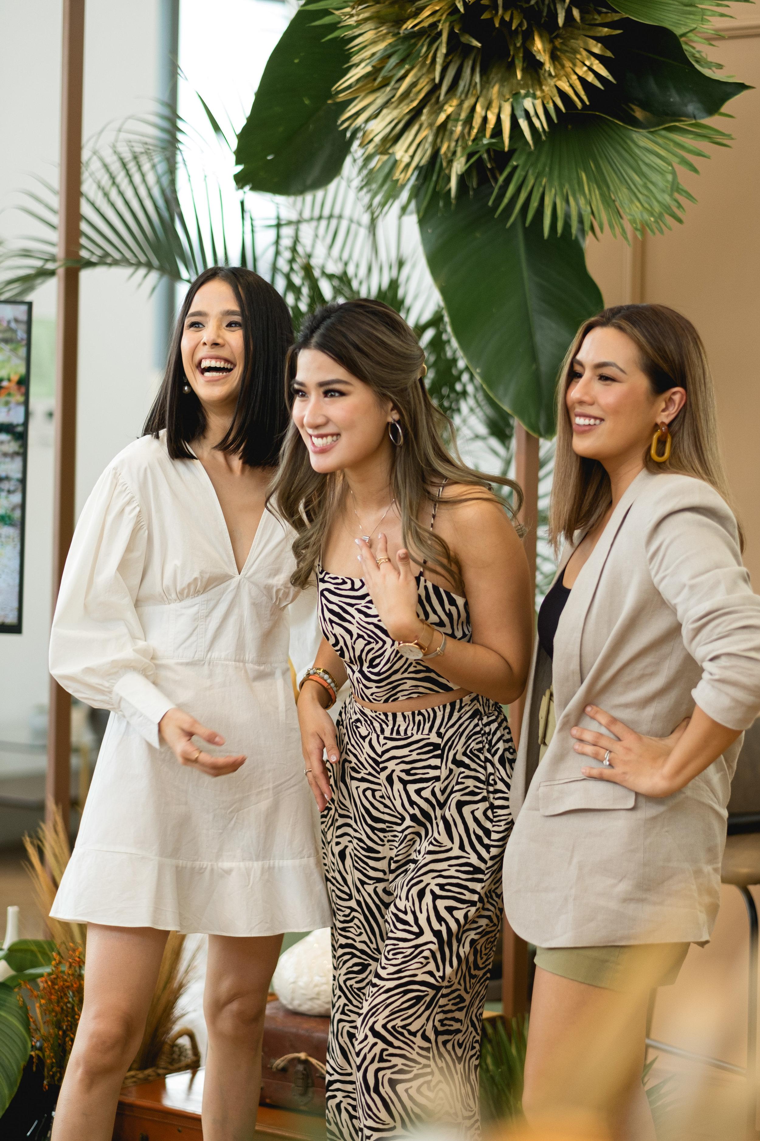 Maxene Magalona, Janeena Chan and Nikki Gil