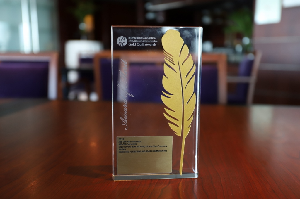 ABS-CBN's advocacy campaign Sagip Pelikula wins International Gold Quill Award