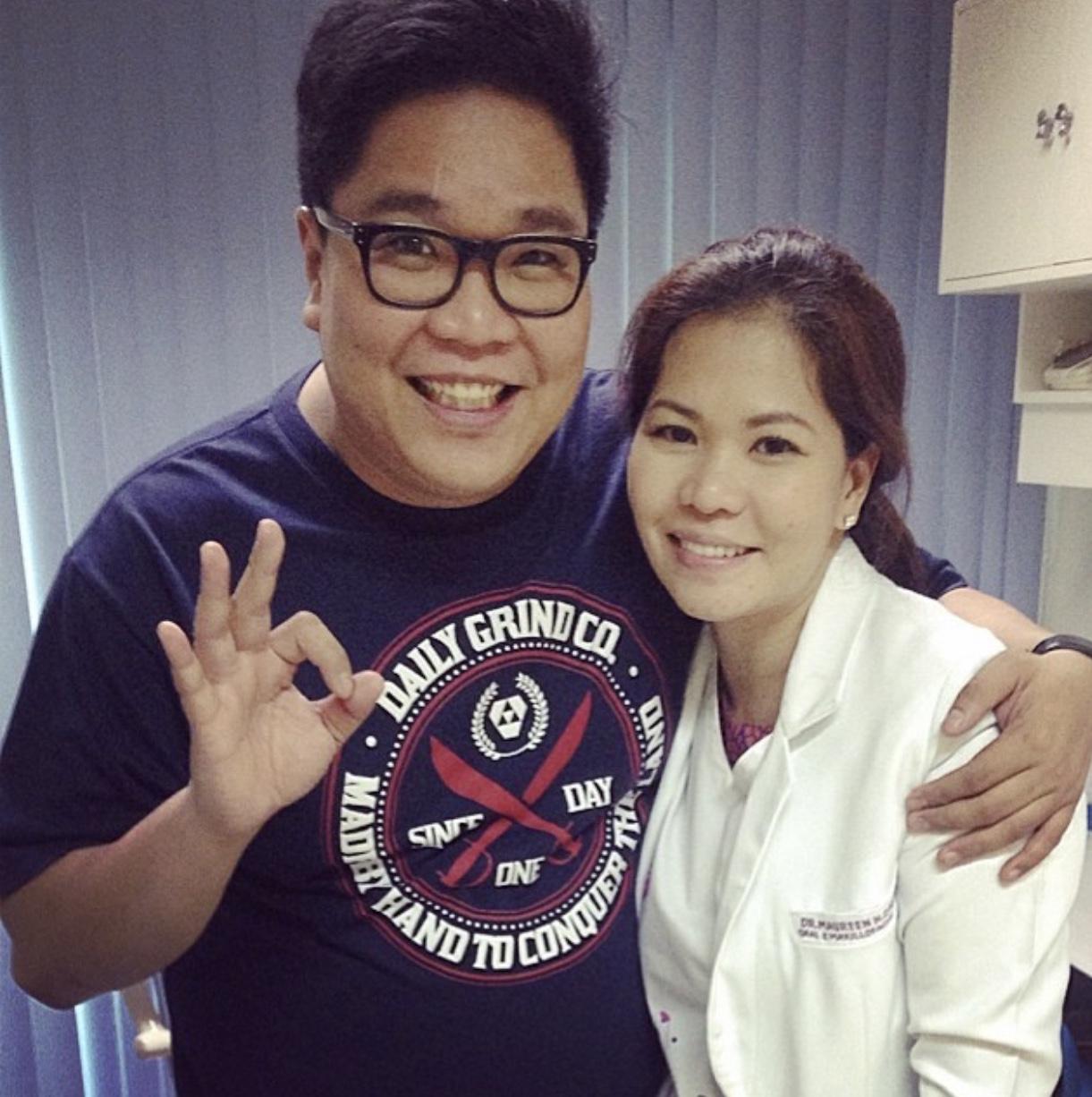 Jugs Jugueta of Itxhyworms with Dr. Maureen Nac-Castillo