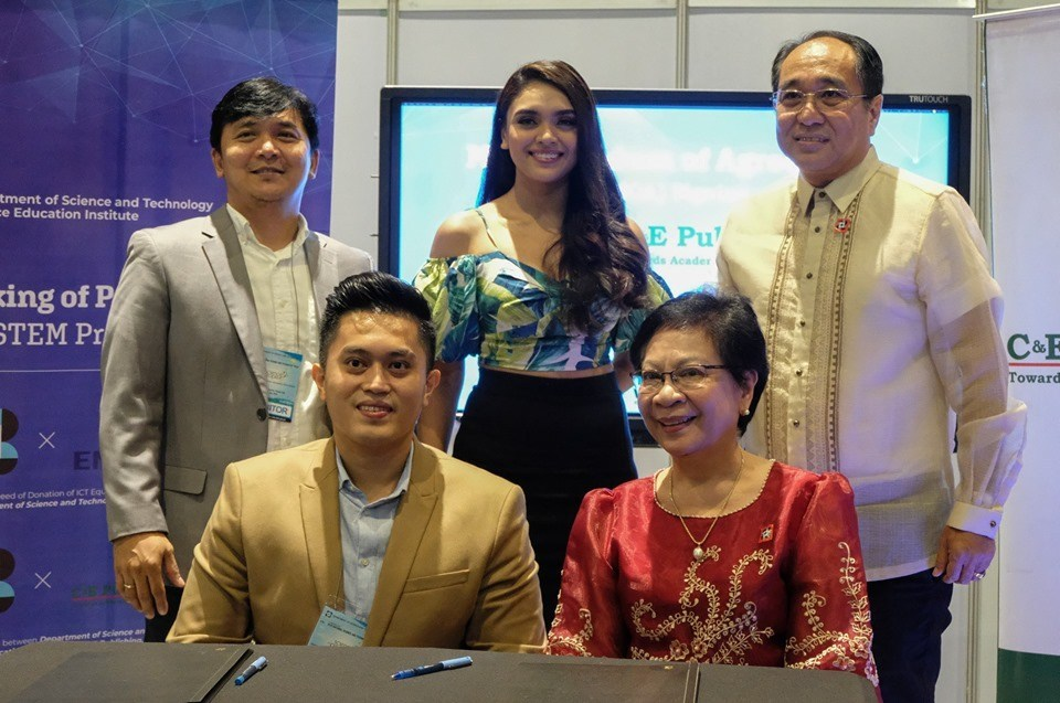 Executives of C&E Publishing and officers of DOST-SEI sign memorandum of agreement
