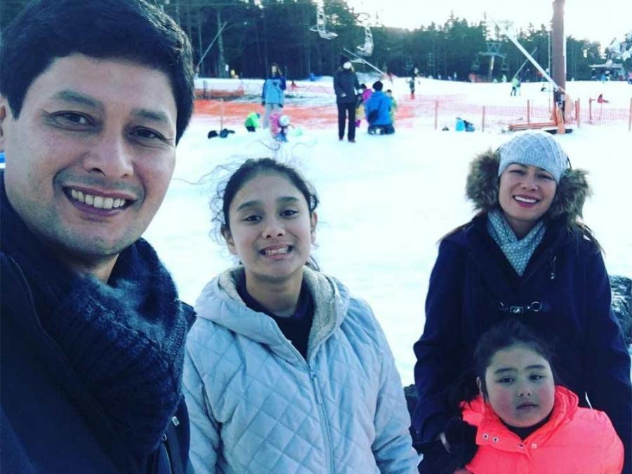 Power couple Tonton and Glydel with daughters Aneeza and Aneeka