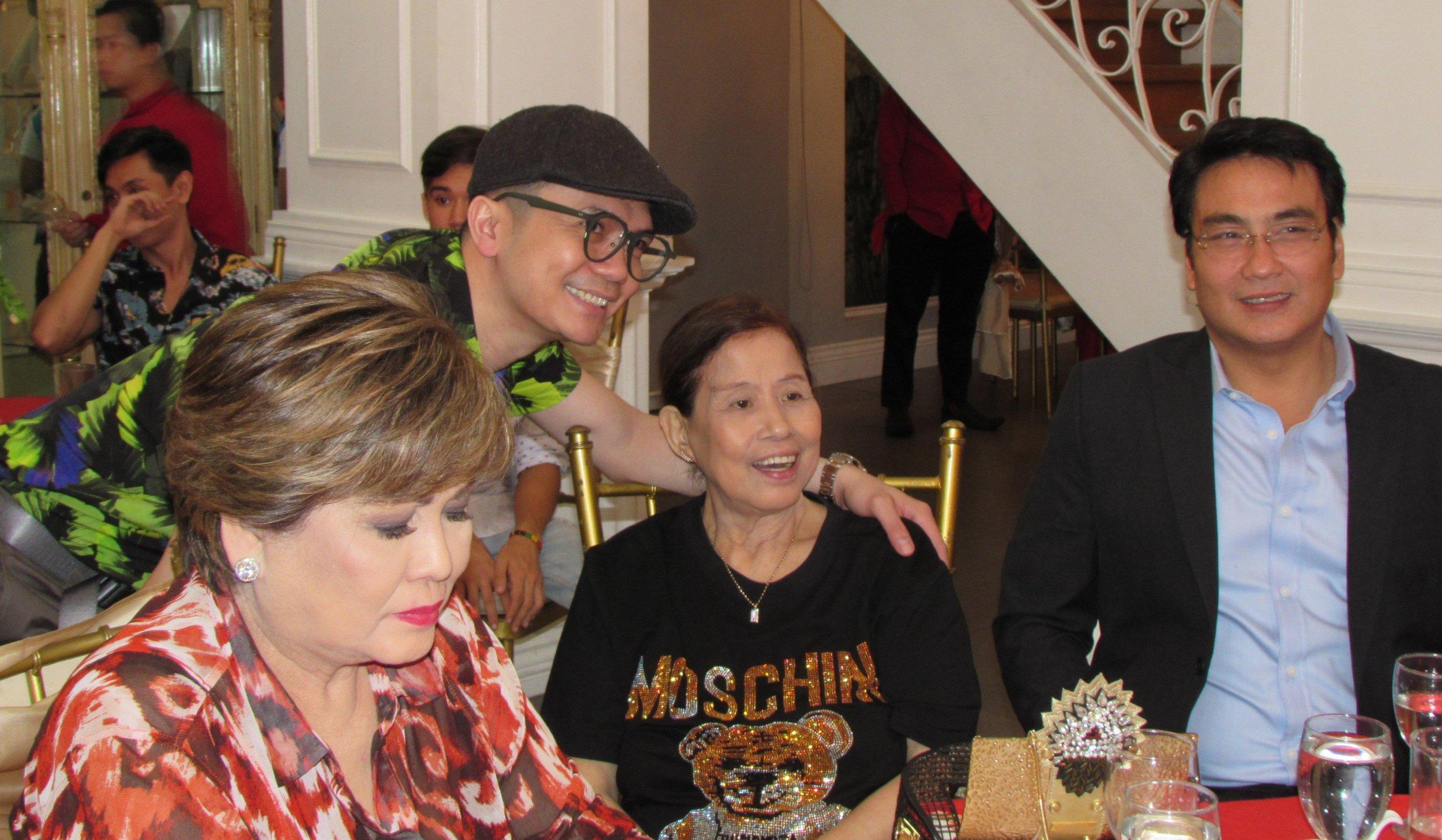 "Among Mother's well wishers were Annabelle Rama, Vhong Navarro and Senator Ramon 'Bong"" Revilla, Jr."