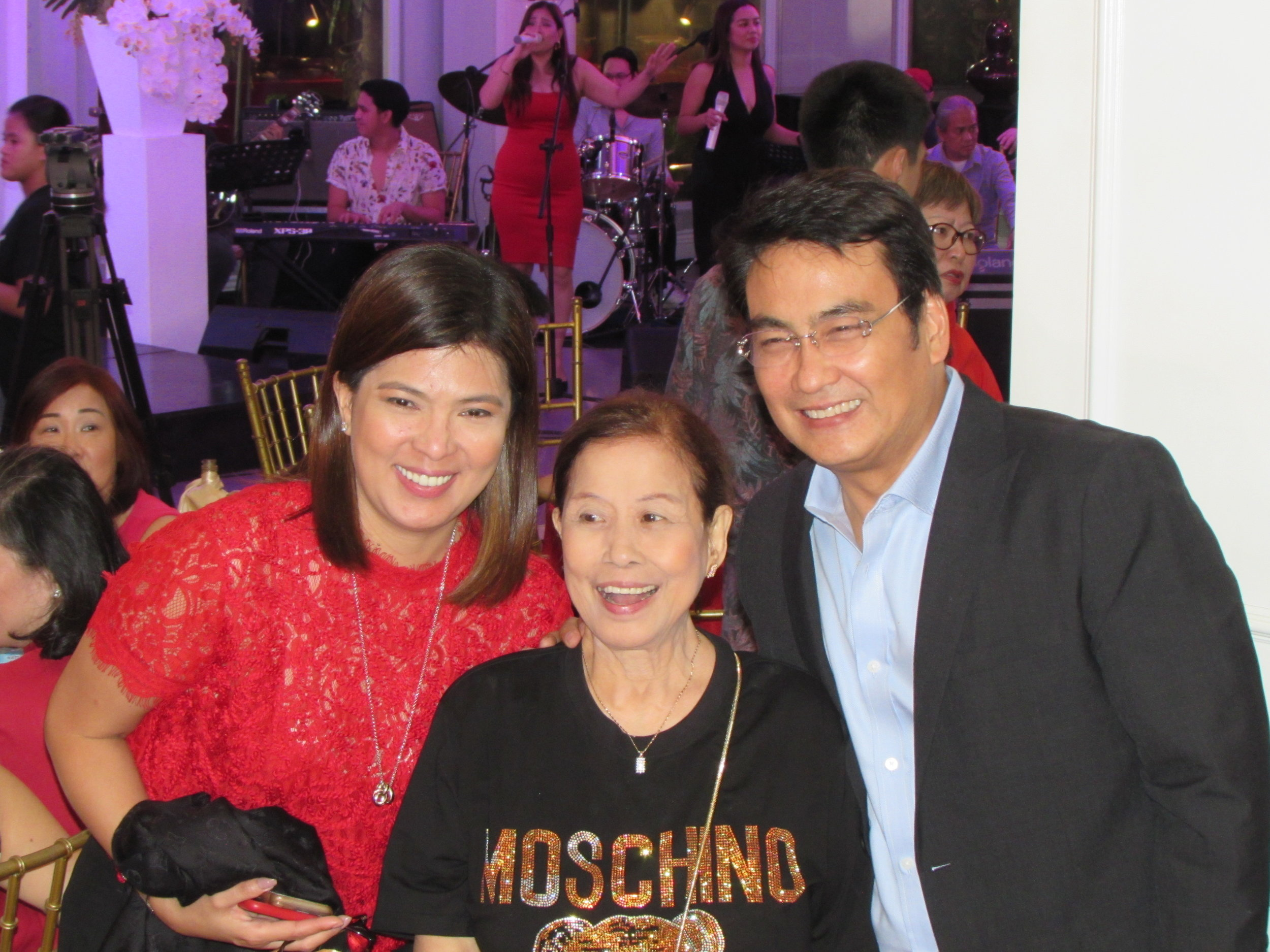Despite their hectic schedules and the horrible traffic jams, couple Bong and Lani find time to greet Mother on her birthday