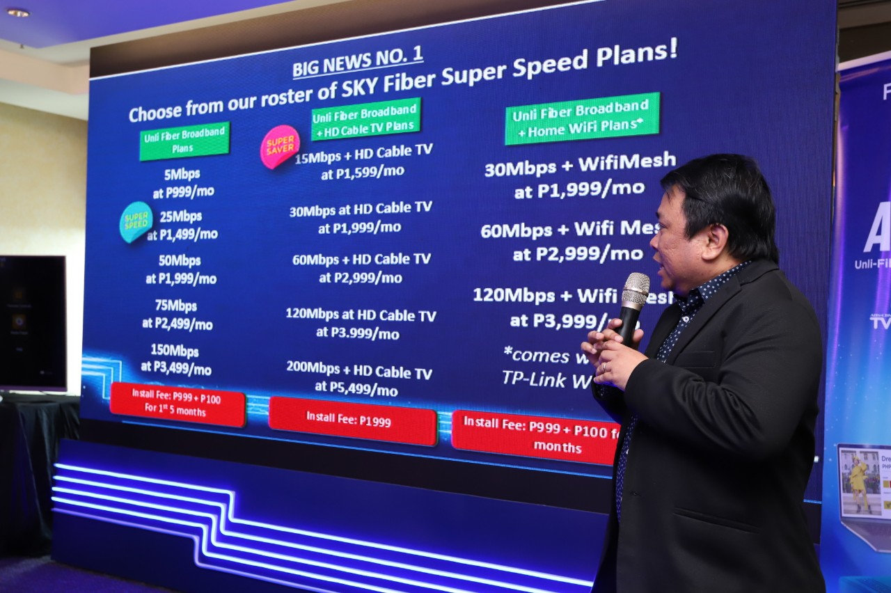 SKY head of broadband products Alan Supnet explains the SKY Fiber speed plans and all-in box launch.j