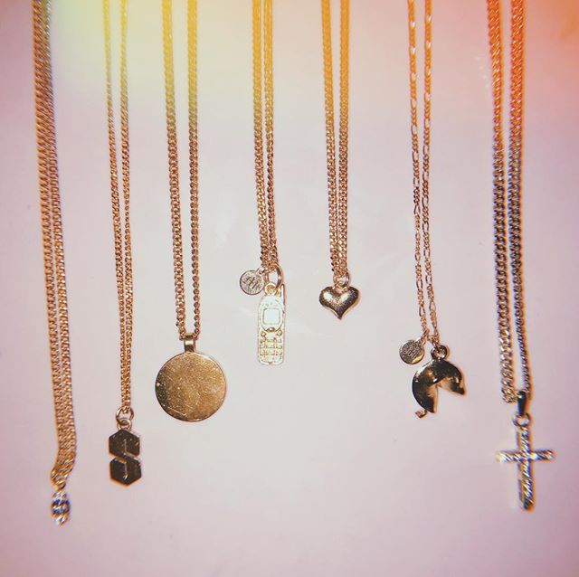 Baby charm necklaces up now ✨all 14k gold plated and made with love. • • • • • #necklaces #accesories #pink #gold #jewelry #hypebae #fashion #handmade #jewelry #design #blackhistorymonth #fashionblogger #details #hujicam #styleblogger #ootd #asos #ootn #style #charms #streetwear #nokia #hearts #nostalgia #complex #✨#tbt
