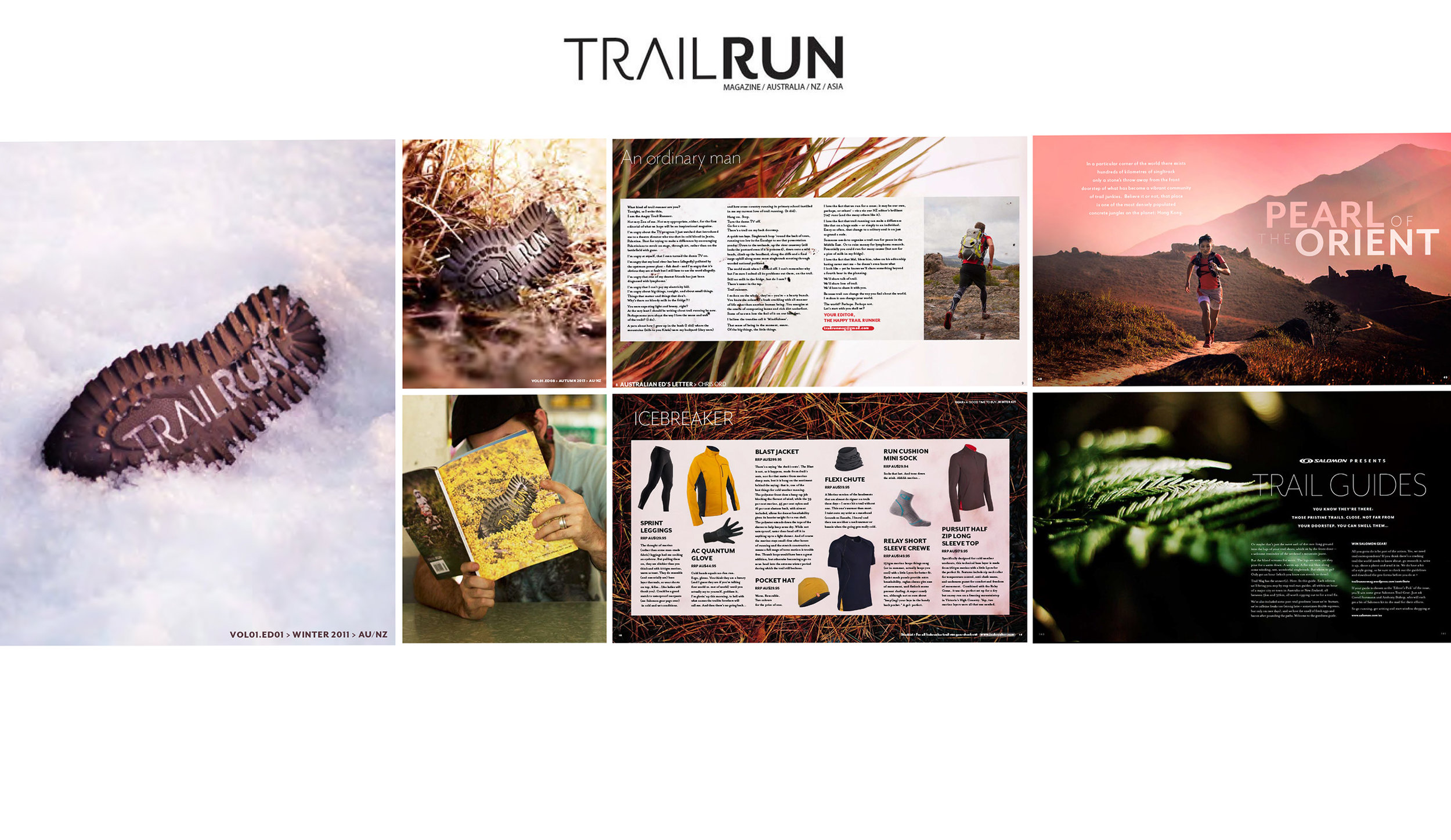 TRAIL RUN    120 page magazine design, style guide, branding for 2 years   Art Direction and Photography by Heidi Green