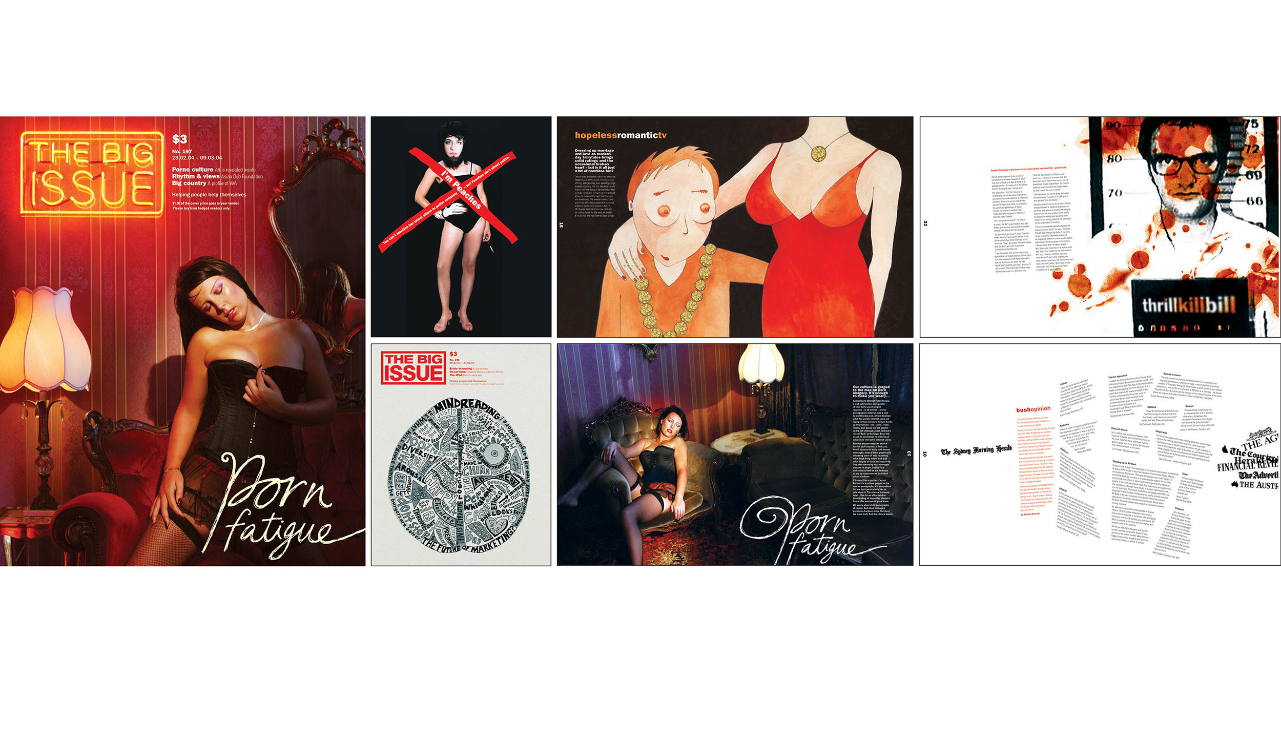 THE BIG ISSUE    Award-winning Australian magazine design     Heidi Green: Art director, Illustrator