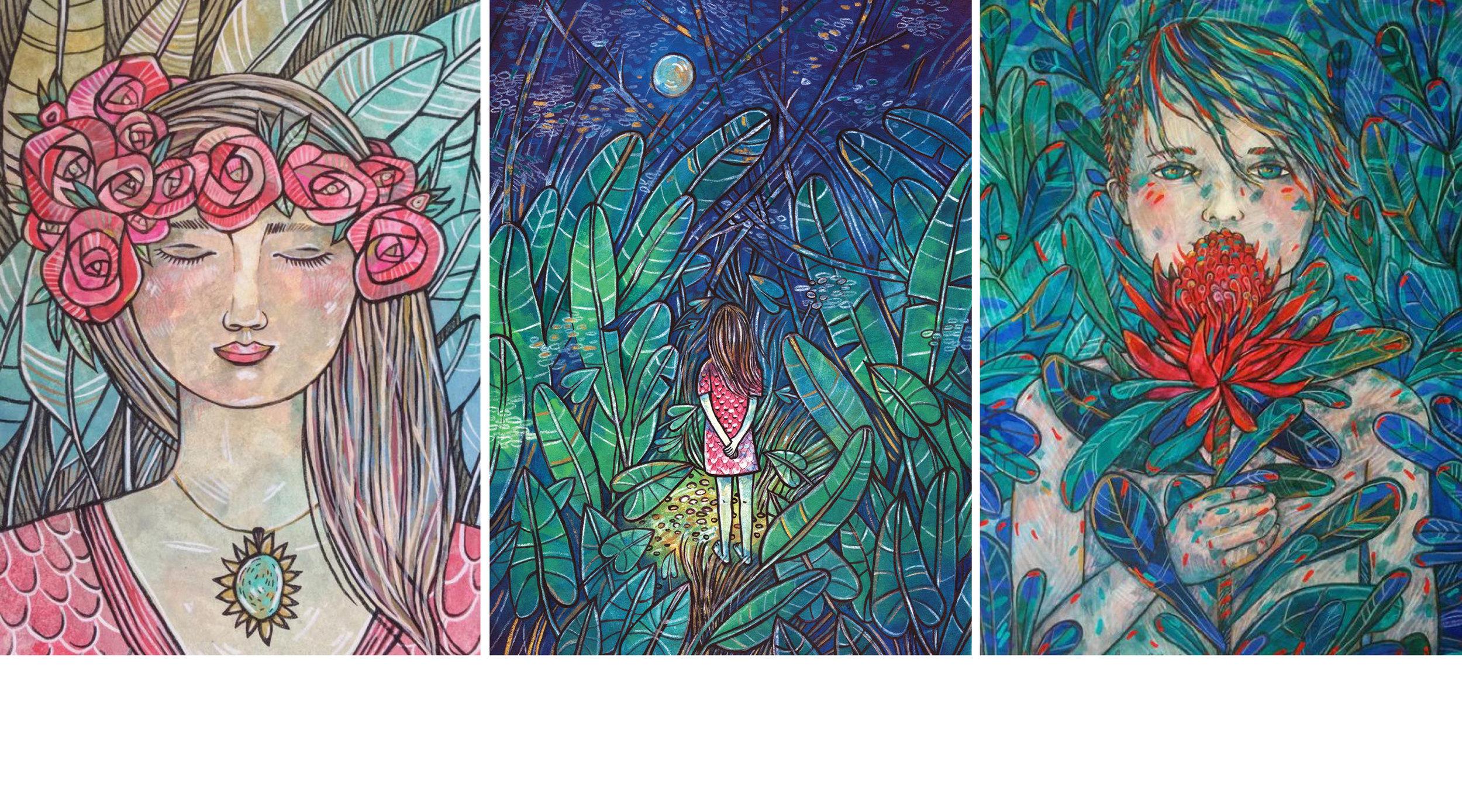 CHILDREN'S BOOK ILLUSTRATIONS     by Heidi Green