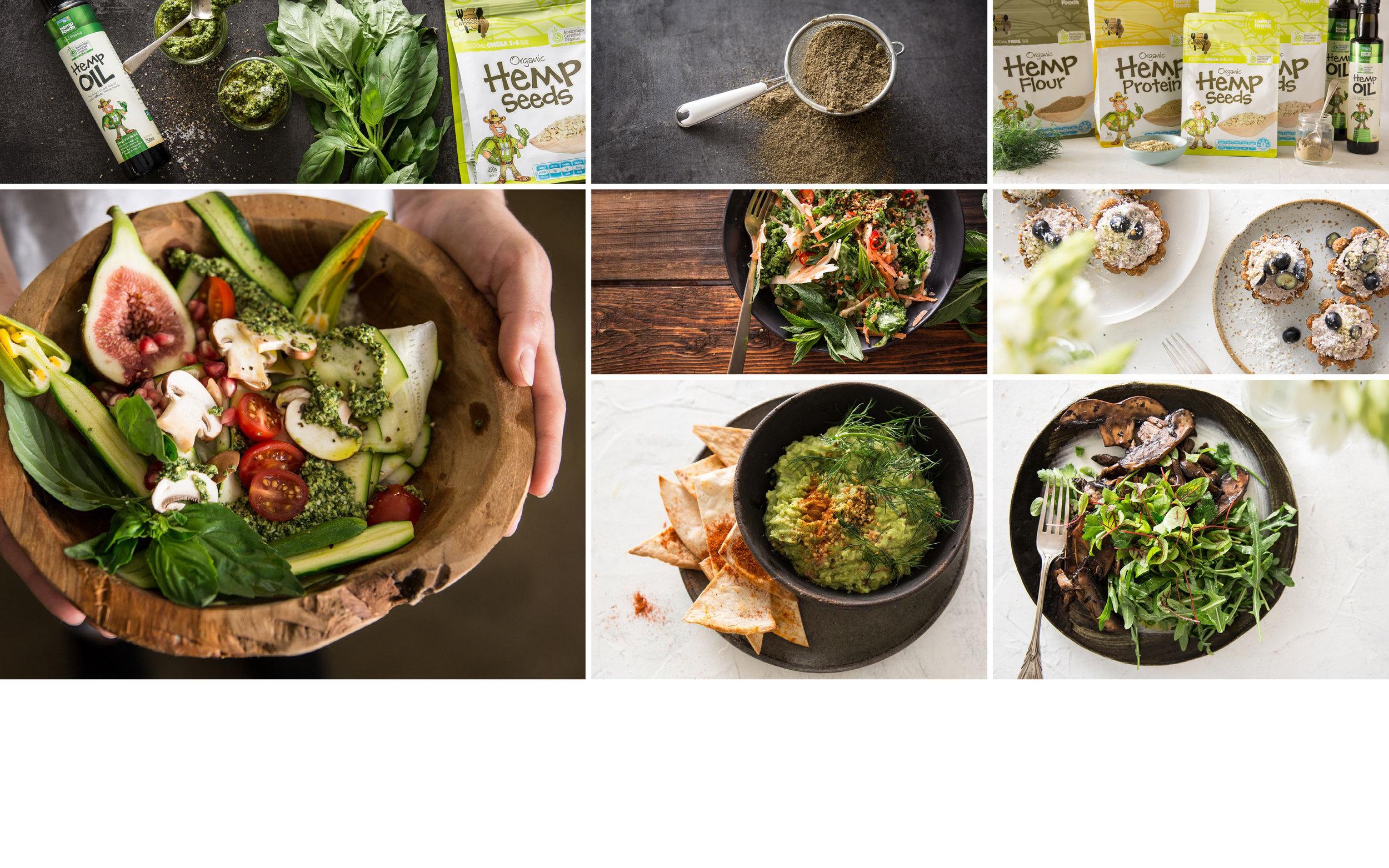 HEMP FOOD AUSTRALIA SOCIAL MEDIA    48 recipes prepared and shot in a single day    Brett Elliott: Producer, Art director