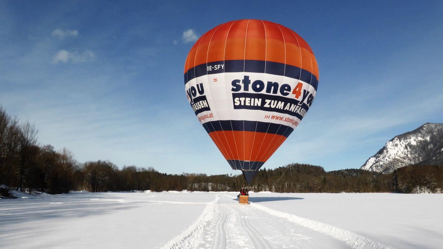 OE-SFY stone4you - Type: Cameron Z-120Baujahr: 2013Hersteller: Cameron Balloons UKVolumen: 3400 m³Verwendung: Schulung, Gästefahrten, NachtfahrtenTragfähigkeit: Pilot plus 3 Personen (ca. 270kg)Sponsor: stone4youVerantwortlicher Pilot: Franz UrbanFolgen Sie uns auf Facebook!