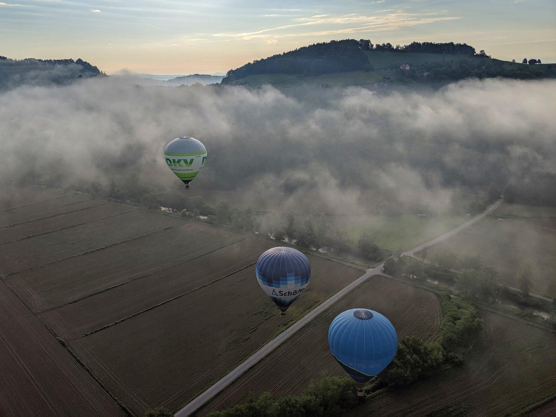 die letzten Nebelfetzen frühmorgens