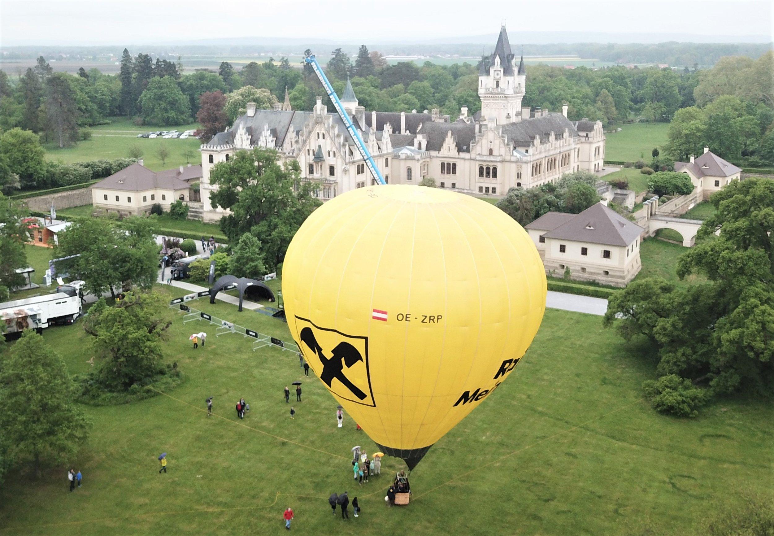unser Raiffeisen-Ballon bei den Designer Days in Grafenegg Mai 2019