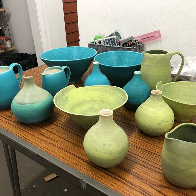 I'm delighted that some of my pots are to grace a shelf in the delightful gallery in the new Fire and Flux establishment in Lower Goat Lane Norwich. I'm lucky to be alongside some great potters in this lovely new venue.  #pots #porcelain #fireandfluxceramics #colour #budvases #bowls #jugs #goodcompany #anglianpotters