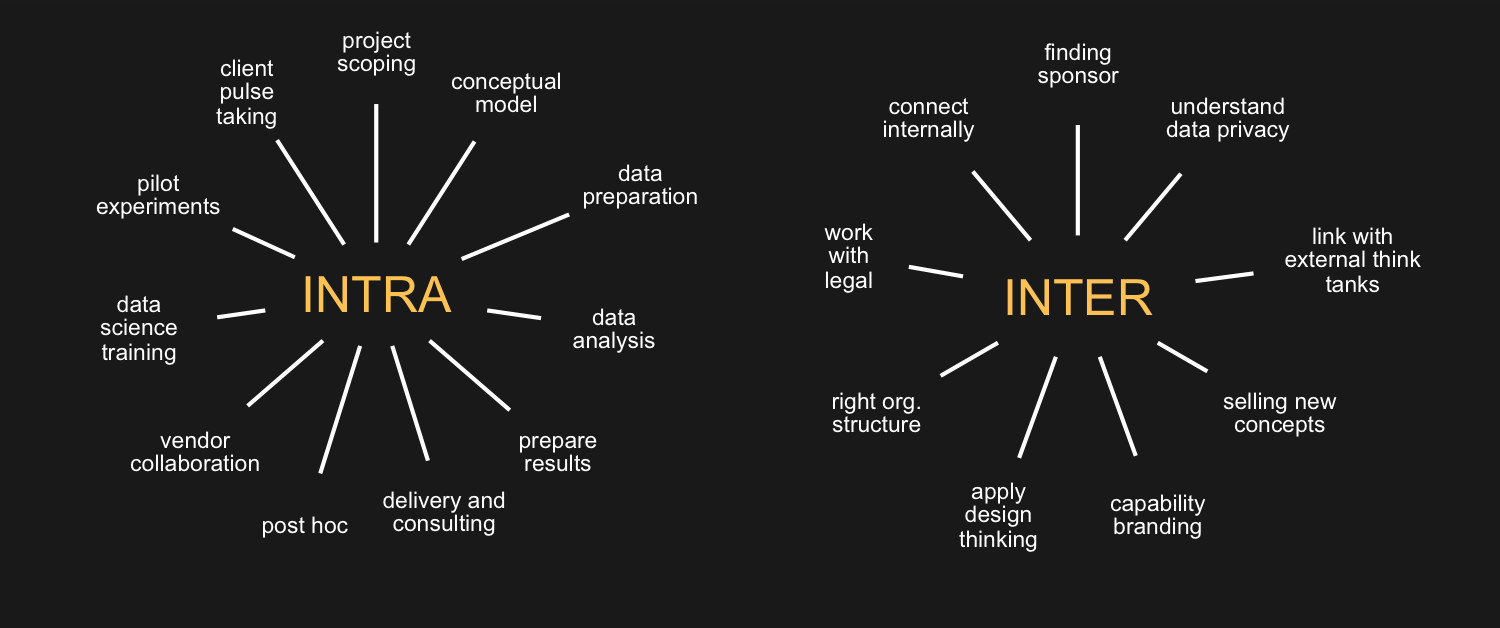 Figure 4:   The Intra- and Inter- responsibilities of the Head of People Analytics (Source: Arun Chidambaram)