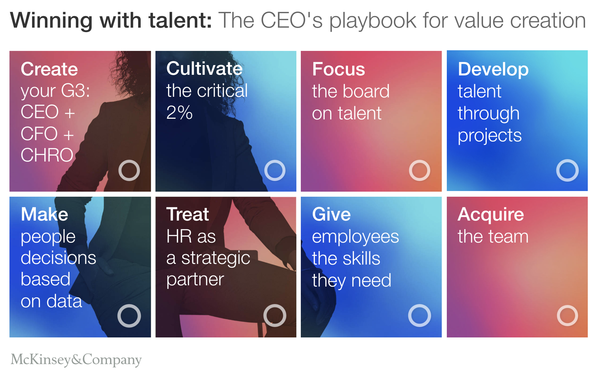 Figure 8   : Winning with talent: The CEOs playbook for value creation (Source: McKinsey)